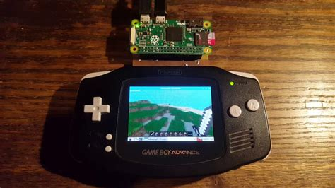 minecraft on the raspberry pi gba cartridge