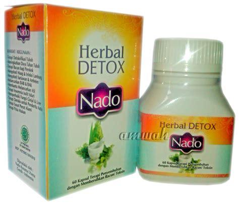 Herblax Untuk Detox herbal detox nado 60 kapsul toko herbal amwah