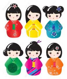 free kokeshi doll clipart 78
