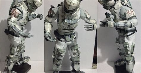 Dead Space Papercraft - dead space 2 isaac arctic security suit papercraft