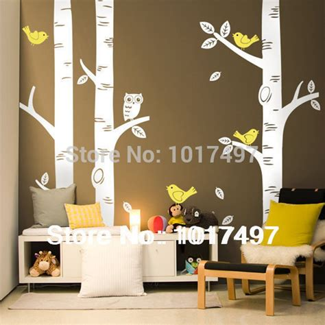 Wall Mural For Baby Room free shipping oversized birch tree wall decals for nursery