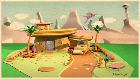flintstones house the flintstones house by fabriciocos on deviantart