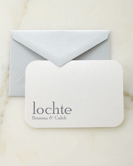 Personalized Gift Card Envelopes - carlson craft slate raised ink personalized cards and envelopes
