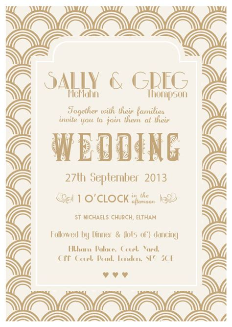 Wedding Invitations Gatsby by The Great Gatsby Wedding Invitation 187 Papergrace Wedding