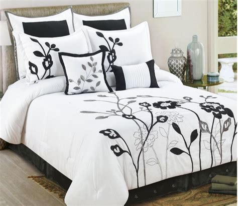 bedroom comforters and bedspreads black and white queen bedding piece queen coley black and