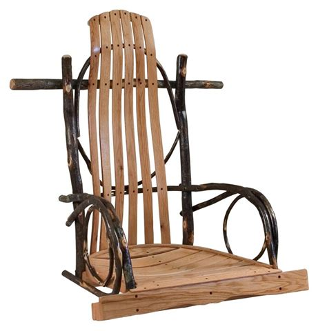 amish swings amish rustic hickory rocker style porch swing