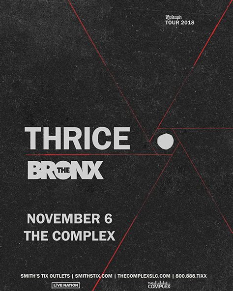 thrice nov 2 tickets for thrice in salt lake city from showclix