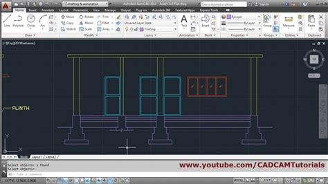 auto layout tutorial youtube autocad house section drawing tutorial 1 youtube