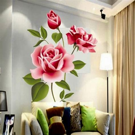 wall stickers home decor creative gifts pvc 3d flower wall