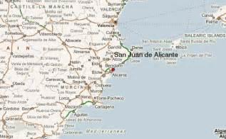map of alicante area san juan de alicante location guide