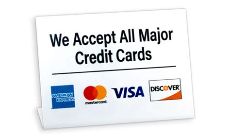 bench credit card we accept credit card sign b2b signs retail banking etc