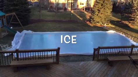 building backyard rink backyard ice rink time lapse hockey fever