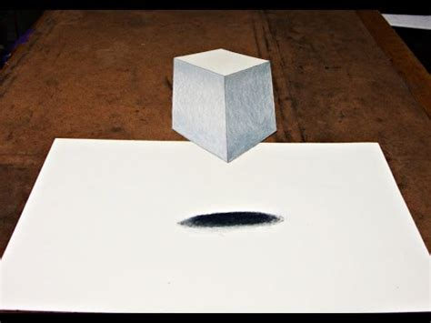 How Do You Make A 3d Cube Out Of Paper - how to draw 3d cube illusion