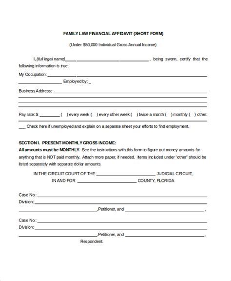 financial affidavit sle affidavit form 15 free documents in pdf doc