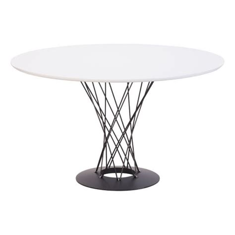 a x spiral modern round white dining table with lazy susan 110040 spiral dining table white