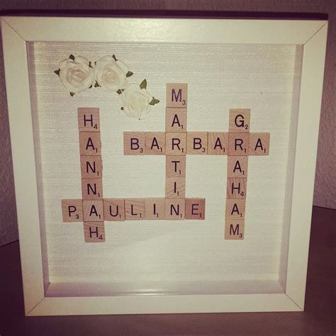 family scrabble family scrabble tile frame featuring a choice of colour scheme