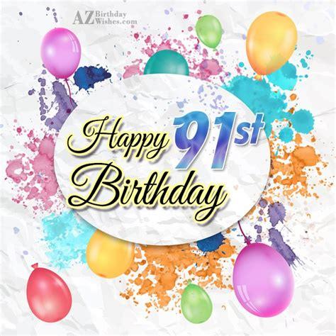 91st Birthday Card
