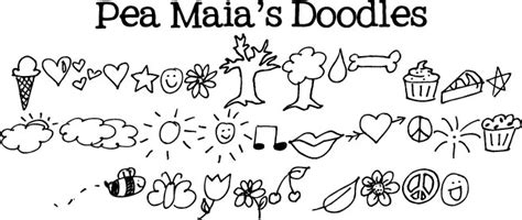 free of doodle font pea maia s doodles