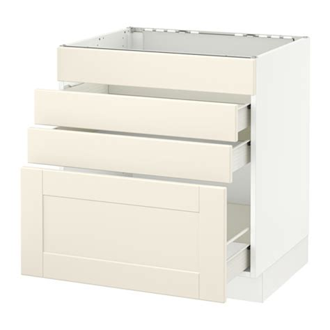 sektion base cabinet with 3 drawers white grimsl 246 v off white 18x15x30 quot ikea sektion base cabinet f cooktop w 3 drawers white f 246