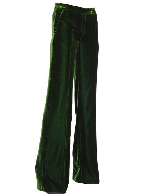 Velvet Trousers by Lyst Emilio Pucci Viscose Silk Blend Velvet Trousers In