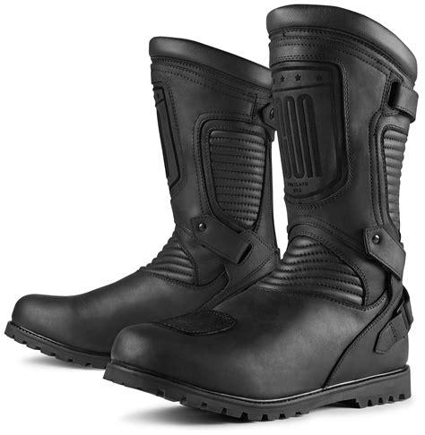 icon boots icon 1000 prep wp boots revzilla