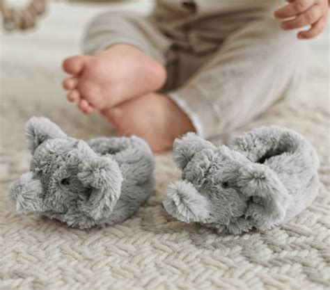 Baby Bedroom Slippers by Nursery Fur Animal Slippers Pottery Barn