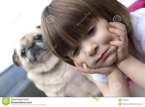 pug child royalty free stock photo child with pug image 7520415