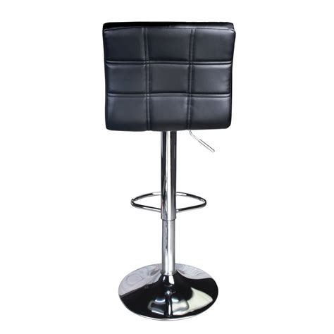 Black Swivel Counter Stools With Back by Modern Square Leather Adjustable Bar Stools With Back Set