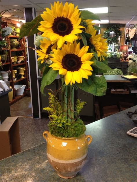 sunflower topiary floral designs