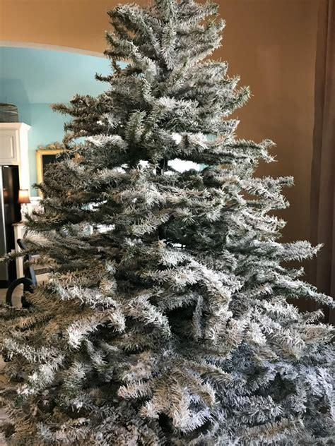 a diy flocked christmas tree county road 407