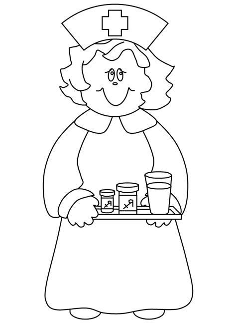 Coloring Picture Nurse – Nursing Coloring Book Awesome Projects ...