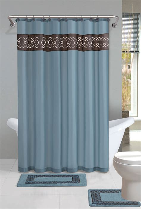 bathroom shower curtain sets contemporary bath shower curtain 15 pcs modern bathroom