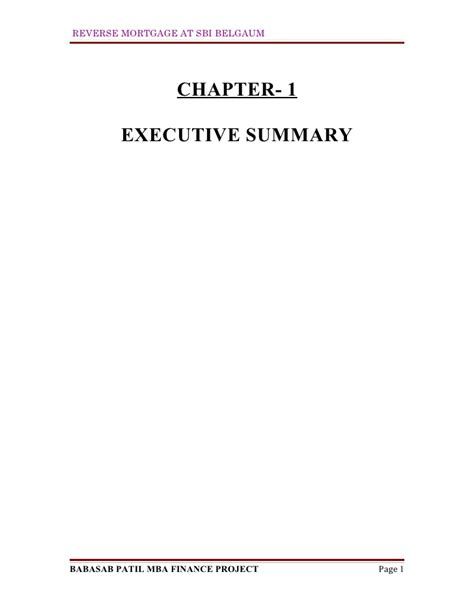 Mba Finance Project Reports Free Pdf by Mortgage At Sbi Mba Finance Project Report