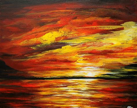 acrylic painting sunset 17 best images about sunset paintings on
