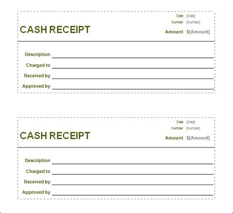 printable receipt template word free receipt printable template for excel pdf formats