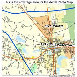 aerial photography map of lake city fl florida