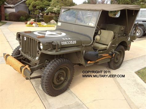 Jeep Willys 1944 1944 Willys Mb Jeep For Sale Militaryjeep