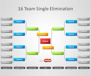 Free Tournament Brackets Template For Powerpoint Free Powerpoint Templates Slidehunter Com Powerpoint Bracket Template