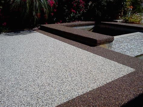epoxy pebble patio flooring pebble patio