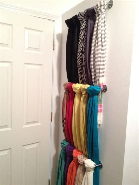 Scarves Closet by Best 25 Hang Scarves Ideas On Closet