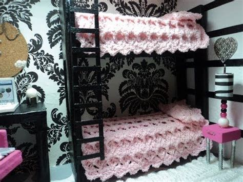how to make a barbie doll bedroom doll house bunk bed tutorial miniatures pinterest how to make doll ray ban