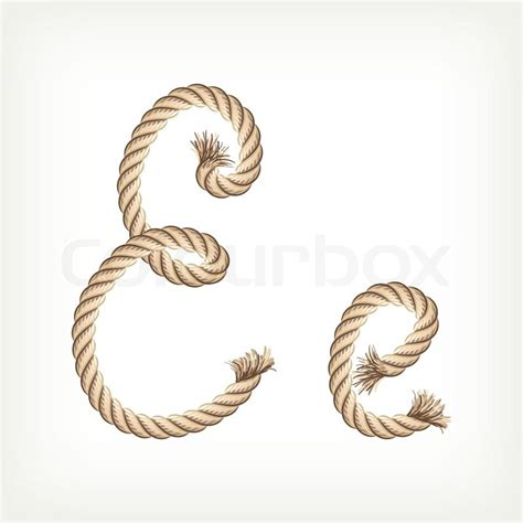 printable rope letters rope alphabet letter e vector colourbox
