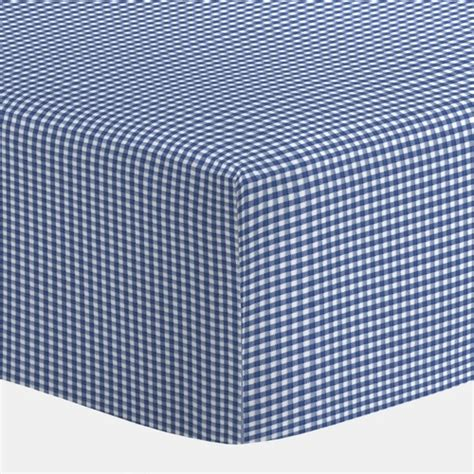 Gingham Crib Sheet royal blue gingham crib sheet navy white nursery