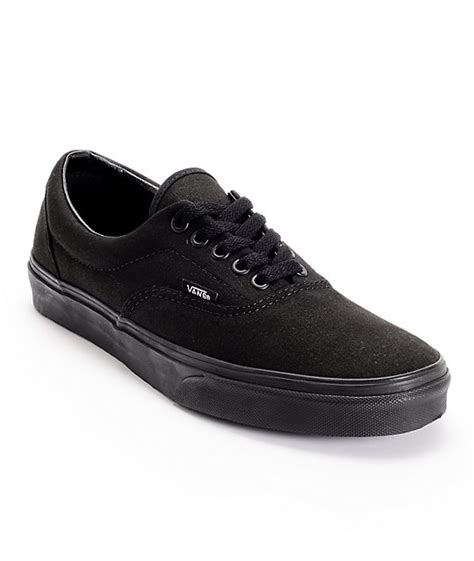 mens all black sneakers vans era classic all black skate shoes mens at zumiez pdp