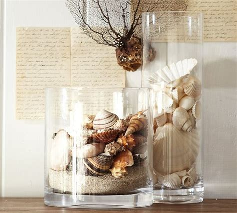 shell vase filler tropical home decor by