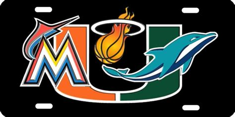 Home Design Store Miami Florida personalized novelty license plate miami sport teams