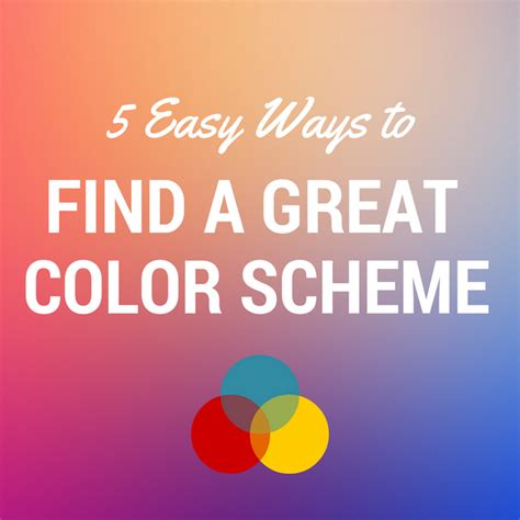 great color schemes 5 easy ways to find a great color scheme e learning heroes