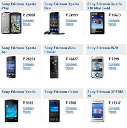Mobile Price List Sony Ericsson Phones Price List With Pictures
