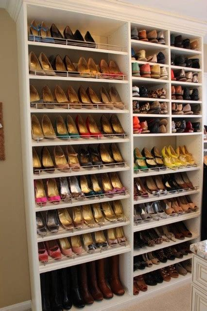 closet shoe shelf toe stops
