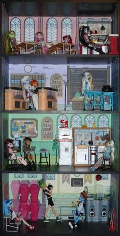 monster high school doll house monster high dollhouse ideas on pinterest monster high doll beds and barbie furniture